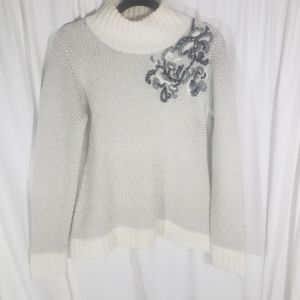 Anthro   Tabitha Wool and Mohair Mock Neck Sweater
